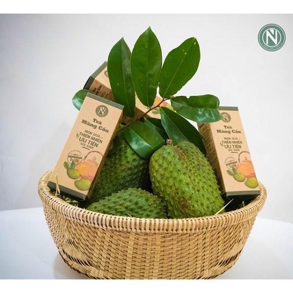 Trà mãng cầu vẫn giữ 100% giá trị dinh dưỡng của trái mãng cầu.